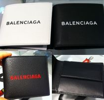 BALENCIAGA EVERYDAY TOTE Leather Folding Wallets