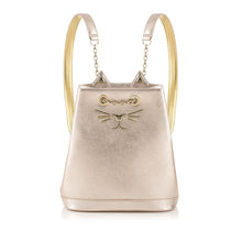 Charlotte Olympia Casual Style Plain Other Animal Patterns Leather Backpacks