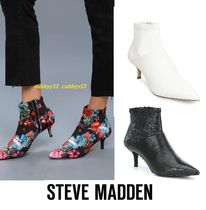 Steve Madden Casual Style Street Style Plain Leather Pin Heels