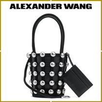 Alexander Wang Casual Style Blended Fabrics Studded Leather Handbags
