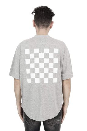 Crew Neck Pullovers Other Check Patterns Street Style Cotton