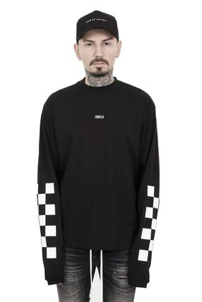 Crew Neck Pullovers Other Check Patterns Street Style