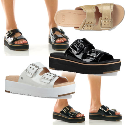 1290e648bbcd ... Sandals 5 UGG Australia Platform   Wedge Platform Casual Style Plain  Leather Platform   Wedge ...