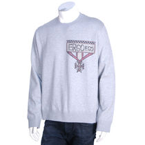 VALENTINO Crew Neck Long Sleeves Cotton Oversized Sweatshirts