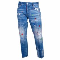 D SQUARED2 Star Street Style Cotton Long Jeans