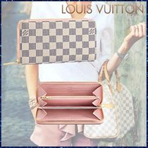Louis Vuitton ZIPPY WALLET Other Check Patterns Canvas Blended Fabrics Bi-color