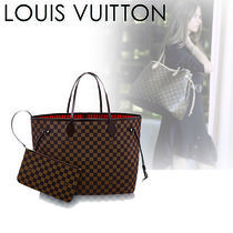 Louis Vuitton DAMIER Other Check Patterns Casual Style Canvas Blended Fabrics A4