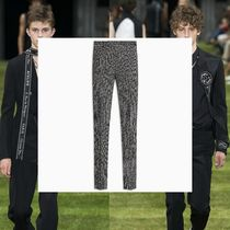 DIOR HOMME Printed Pants Stripes Wool Patterned Pants