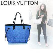 Louis Vuitton EPI Casual Style A4 2WAY Plain Leather Totes