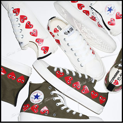 Heart Casual Style Unisex Collaboration Low-Top Sneakers