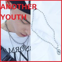 ANOTHERYOUTH Unisex Street Style Stainless Necklaces & Chokers