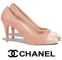CHANEL Leather Elegant Style High Heel Pumps & Mules