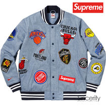 Supreme Street Style Collaboration Plain Jackets