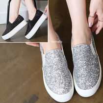 Platform Plain Toe Casual Style Faux Fur Plain Slip-On Shoes