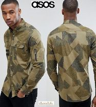 ASOS Button-down Camouflage Street Style Long Sleeves Cotton