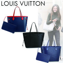 Louis Vuitton EPI Casual Style Blended Fabrics A4 2WAY Plain Leather Totes