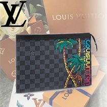 Louis Vuitton DAMIER COBALT Damier Cobalt POCHETTE VOYAGE MM  Clutch bag