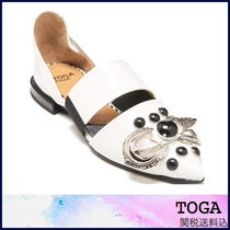 TOGA Round Toe Casual Style Leather Sandals Sandals