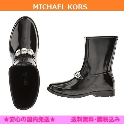Round Toe Rubber Sole Casual Style Plain Flat Boots