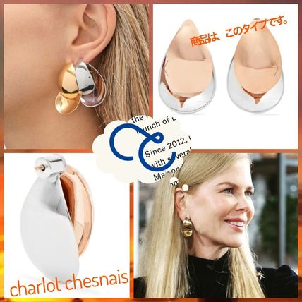 gold earrings mian earring charlotte hook chesnais product vermeil vand