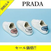 PRADA Rubber Sole Casual Style Street Style Plain Leather