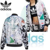 adidas Short Flower Patterns Rib Collaboration Long Sleeves