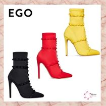 EGO Tassel Plain Pin Heels Ankle & Booties Boots