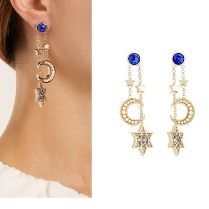 Studded Brass Elegant Style Earrings & Piercings