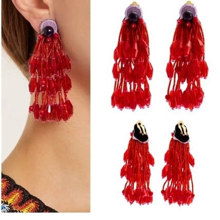 Tassel Studded Brass Earrings & Piercings