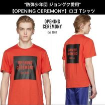 OPENING CEREMONY Crew Neck Street Style Cotton Short Sleeves