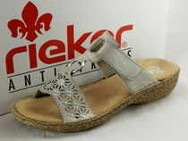 rieker Round Toe Casual Style Faux Fur Flat Sandals