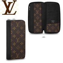 Louis Vuitton MONOGRAM MACASSAR Leather Long Wallets