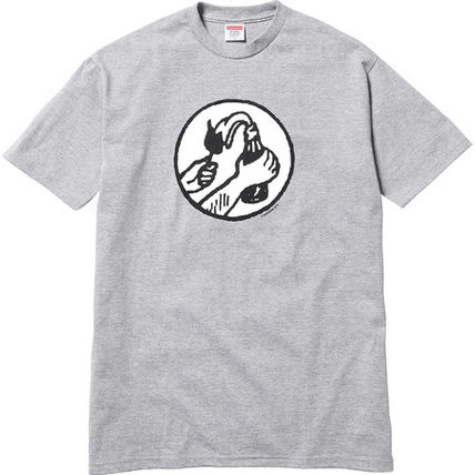 Supreme More T-Shirts Unisex Street Style Cotton Short Sleeves T-Shirts