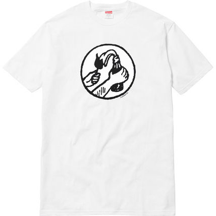 Supreme More T-Shirts Unisex Street Style Cotton Short Sleeves T-Shirts 3