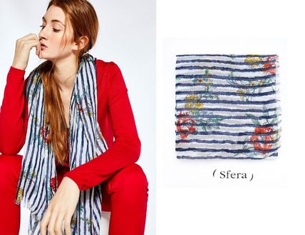 Stripes Flower Patterns Casual Style