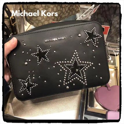 Star Casual Style Leather Shoulder Bags