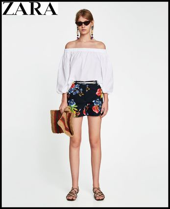 Short Flower Patterns Casual Style Shorts