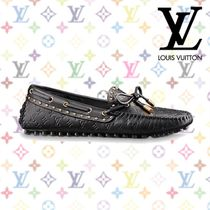 Louis Vuitton Studded Plain Leather Loafer Pumps & Mules