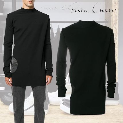 Crew Neck Pullovers Wool Long Sleeves Plain Knits & Sweaters