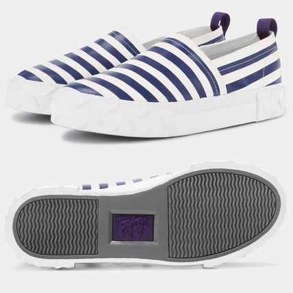 Stripes Unisex Leather Sneakers