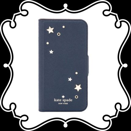 Star Studded Leather Smart Phone Cases