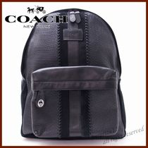 Coach Stripes A4 Leather Backpacks