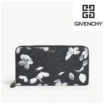 GIVENCHY Flower Patterns Unisex Leather Long Wallets