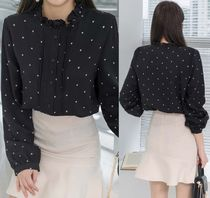 Dots Long Sleeves Medium Shirts & Blouses