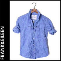 Frank&Eileen Gingham Casual Style Long Sleeves Cotton Medium