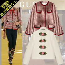 GUCCI Stripes Other Animal Patterns Elegant Style Jackets