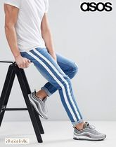 ASOS Stripes Denim Street Style Plain Skinny Fit Jeans & Denim