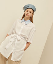 13MONTH Casual Style Unisex Street Style Plain Long Short Sleeves