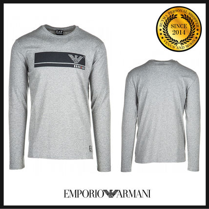 Crew Neck Pullovers Long Sleeves Cotton Long Sleeve T-Shirts