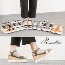 Star Open Toe Platform Casual Style Platform & Wedge Sandals